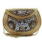 Trend Overseas Étnica Vintage Múltiples hechas a mano de metal Mosaico piedra monedero mano embrague bolso para las mujeres embragues para las mujeres vintage bolsa de metal bolsa Embrague de fiesta