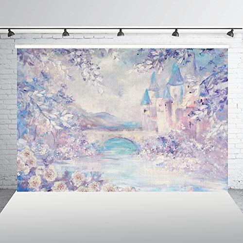 nd,Fotografie Kulissen Malen Geburtstag Hintergrund Burg Hintergrund Banner Geburtstag Baby Dusche Photo Booth @ 150X100Cm_Thin_Vinyl ()