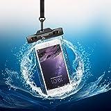 Keynice IPX8 Wasserdichte Tasche Wasserdichte Handyhülle Wasser- und staubdichte Hülle für Iphone 7/ 6 / 6s/ 6plus und andere Geräte bis zu 5.8 Zoll (Schwarz)