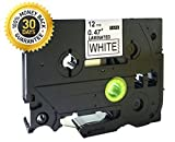 Compatible For Brother P-Touch Laminated TZe TZ Label Tape Cartridge 12mm x 8m (TZ-231 TZe-231 Black on White) by P-Brother All Colors