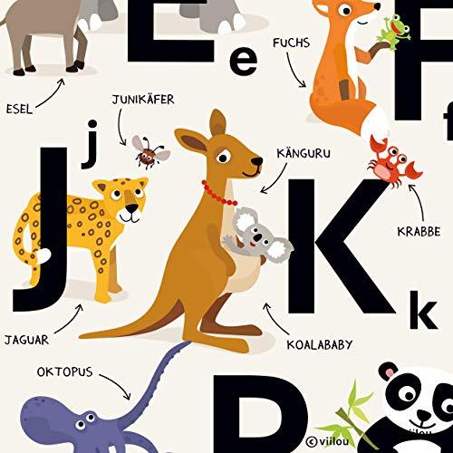 ABC Poster Alphabet Buchstaben Plakat Kinderzimmer - 3