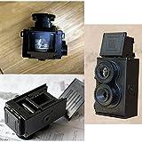 Cewaal Mode Film Twin Lens Reflex Film-Kamera für Lomo DIY Kit Schwarz