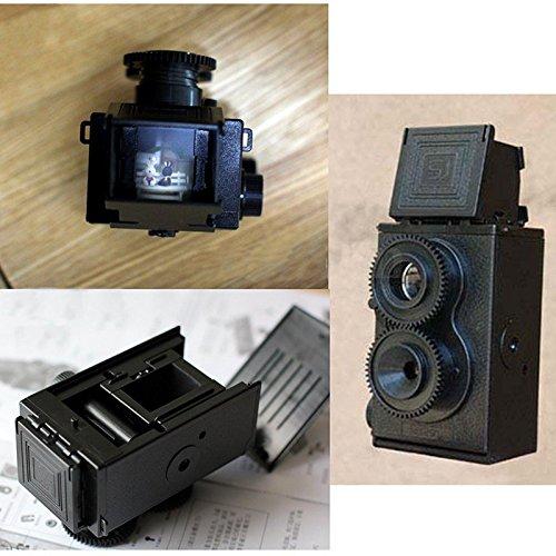 Cewaal Mode Film Twin Lens Reflex Film-Kamera für Lomo DIY Kit Schwarz (Reflex-kamera)