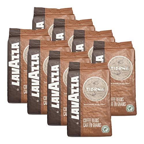 Lavazza Kaffee Espresso Tierra, ganze Bohnen, Bohnenkaffee (8 x 1kg Packung)