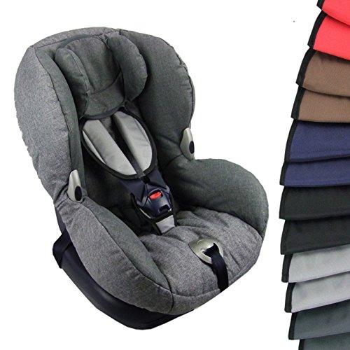 BAMBINIWELT BAMBINIWELT Gurtpolster Schrittpolster für Autositz, Kinder, universal, GRUPPE 1 (hellgrau)
