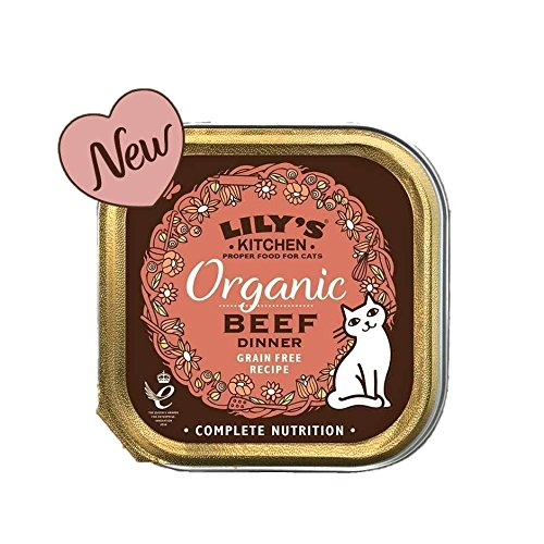 Lily's Kitchen Organic Beef Dinner for Cats (85g) - (PACK OF 2) (Bio-kaninchen Essen)