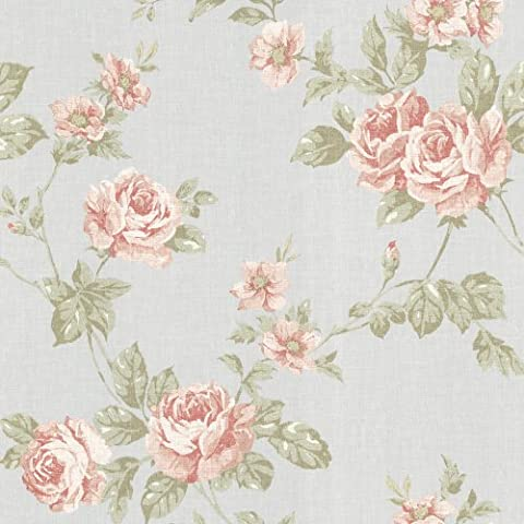 BHF 302-66876 Bloom Pink Rose Trail Wallpaper