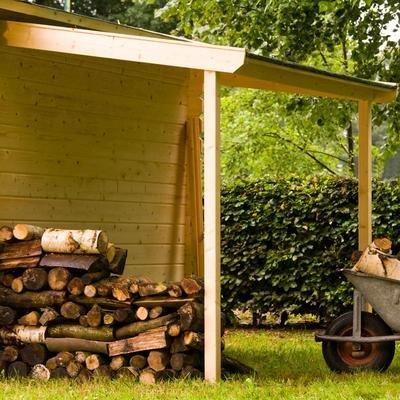 Bear County Schleppdach 120 x 250 cm zum Anbau an Ihr Gartenhaus