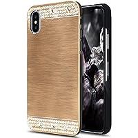 iPhone X Hülle,iPhone X Hülle Metall Glitzer,SainCat Hart Gebürstetes Metall Hülle für iPhone X Glänzend Glitzer... preisvergleich bei billige-tabletten.eu