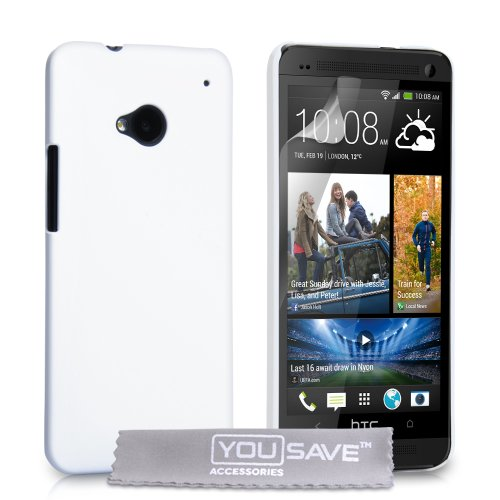 Foto YouSave Accessories Custodia Rigida per HTC One, Bianco