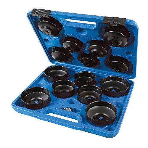 Silverline 952159 Juego de Llaves para Extraer Filtros de Aceite Negro, 65-93 mm
