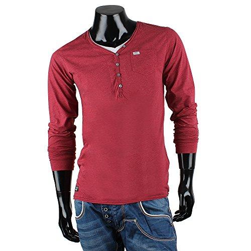REDBRIDGE BY CIPO & BAXX Herren Langarm Shirt Bordeaux
