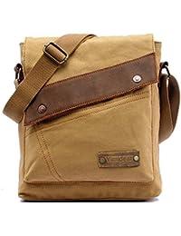 Yimidear Men s Retro Vintage Canvas Bag Messenger Bag Single Shoulder Bag  Briefcase 46fbece6ad