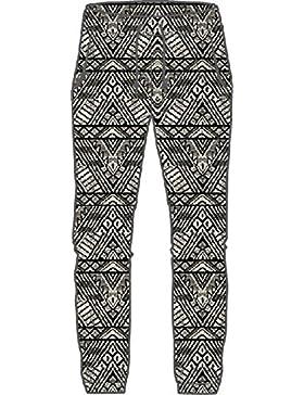 O'Neill Beachy Beach Pantalones, Mujer, Negro AOP w/Blanco, XS