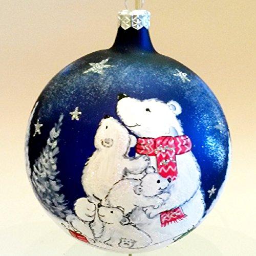 Gilardoni fausto, sfera natalizia diametro 12 cm in vetro soffiato e decorato a mano