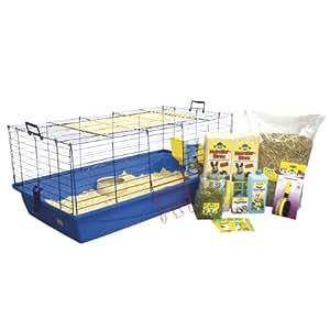 Dehner Nagerheim, Komplett-Set für Meerschweinchen oder Kaninchen, 120 cm