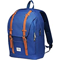 """Rucksack Damen Herren Vintage KAUKKO Reiserucksack Studenten Rucksack Laptop Rucksack für 14"""" Notebook Lässiger Daypacks Schultaschen für Wandern Reisen Camping"""