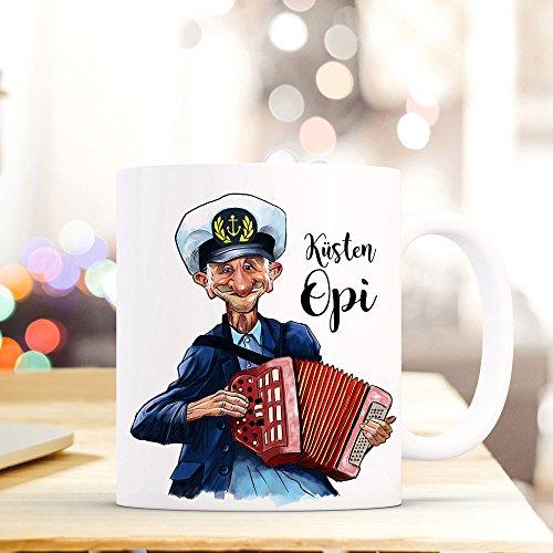 ilka parey wandtattoo-welt aTasse Becher Kaffeetasse Kaffeebecher Maritim mit Kapitän Seemannsopi...