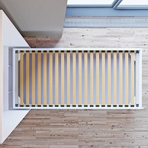Schrankbett 90×200 cm Vertikal Eiche Sonoma- Schrankklappbett & Wandbett - 5