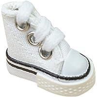 2 Mini Chaussures de Doigt, Chaussures de Skate Mignon, Mini Chaussures en Toile décoration Baskets de Mannequin…