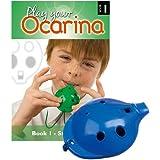 Englische Okarina, BLAU, und das erste Buch: Play your Ocarina Book 1, als Set