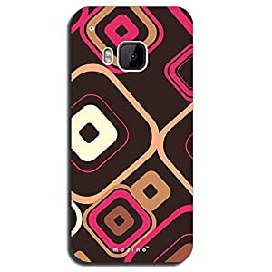 Mozine White Cube Pattern printed mobile back cover for HTC one m9