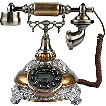 VBESTLIFE Retro Weinlese Telefon,Platten Drehwahl Antiken Telefon Festnetztelefon f/ür B/üro//Haus//Luxus Haus//Hotel//Kunstgalerie//Schmuckgesch/äft usw.