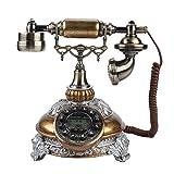 VBESTLIFE Retro Vintage Telefon,Wählscheibe Antik Festnetz FSK/DTMF Telefon mit...