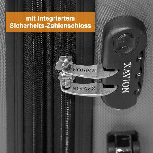 Reise-Koffer Trolley Hartschalenkoffer Groesse: M Farbe: Himmelblau SH003 Sicherheitszahlenschloss -