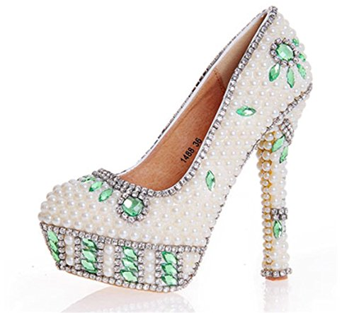 GZD-Ladies-Crystal-Rhinestones-Pearl-Banquetreen-Bride-Party-Womens-Sexy-White-Lace-Hidden-Platform-High-Heels-Peep-Toe-Shoes