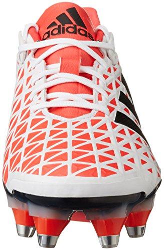 adidas Adipower Kakari SG, Scarpe da Rugby Uomo Bianco (Blanco (Blanco (Ftwbla / Rojimp / Negbas)))