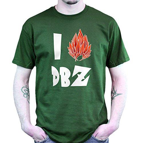 I Love Saiyan DBZ T-shirt Jungle Green
