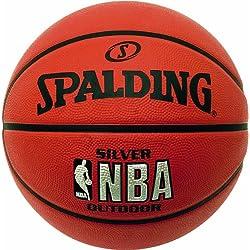 Spalding NBA Silver - Balón de baloncesto para exterior, color naranja (orange) - 7