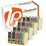 Bubprint 20 Druckerpatronen kompatibel für Epson T1301 - T1304 für Stylus SX525WD SX535WD SX620FW Office B42WD BX525WD Workforce WF-3520DWF WF-7515