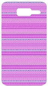Pink Tribal Pattern White Back Cover Case for Motorola D1