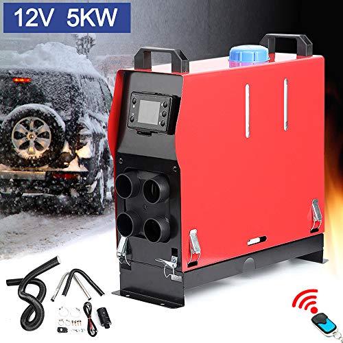 Triclicks Air Diesel Heizung Air Standheizung 12V 5KW Diesel Luftheizung Kraftstoff Auto Heizung Lufterhitzer mit Fernbedienung LCD Monitor für RV, Boote, LKW, Wohnmobil Anhänger, Wohnmobile