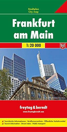 Francoforte sul Meno 1:20.000: Stadskaart 1:20 000