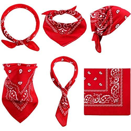 Guoxii Ungewöhnliche Paisley Bandanas Set 100% Cotton Headbands Cowboy Bandana Unisex Novelty Print Head Wrap Scarf Wristband für Erwachsene und Kinder -