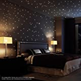 Wandtattoo Loft 124 Pieces adhesive night glow Stars (as Light spots shown) Light sticker from fluorescent Foil for children's room or Bedroom shining stars for an awesome starry sky