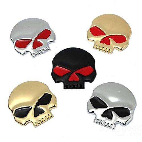 Preisvergleich Produktbild mark8shop Metall 3D Skelett Skull Emblem Aufkleber Emblem LKW-Motorrad Auto Aufkleber