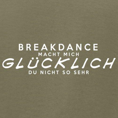 Breakdance macht mich glücklich - Herren T-Shirt - 13 Farben Khaki
