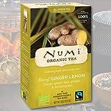 Numi Tea allo zenzero biologico, tè verde decaffeinato al limone, 16 bustine di tè al sapore: decaffeinato al limone