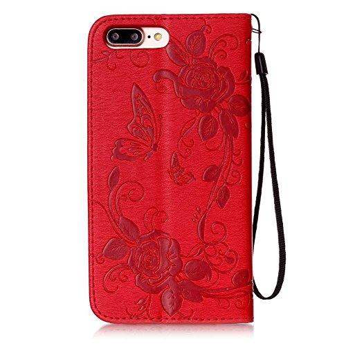 BoxTii® Coque iPhone 6 6s, Housse Etui en Cuir pour Apple iPhone 6 / iPhone 6s [avec Gratuit Protection D'écran en Verre Trempé], iPhone 6 / iPhone 6s Case Coque Bumper Cover (#6 Gris) #1 Rouge