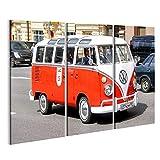 islandburner Bild Bilder auf Leinwand VW Bulli Bus T1 Vintage Wandbild, Poster, Leinwandbild MXF