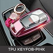 YYKKO For Car Styling Car Key Fob Cover For Audi A4 4M 8S Allroad B9 Q5 Q7 Tt Tts 3Btn Remote Keyless Tpu Prot