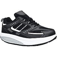 Scarpe Dimagranti Uomo Ettes® Modello Toronto in Eco Pelle Posturali Basculanti Sportive da Ginnastica per Camminare…