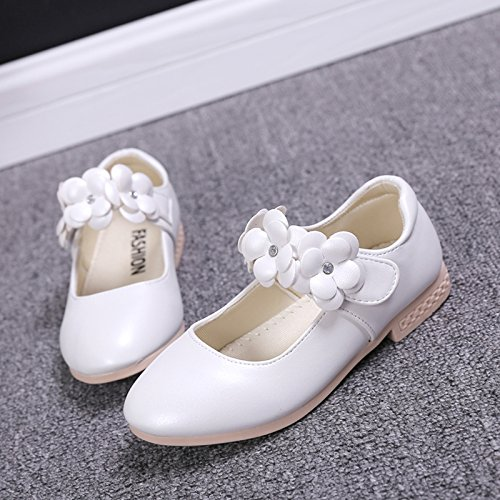 Schuhe Ballerinas Festliche M盲dchen Wei Blumen Kinderschuhe EOZY mit Lackschuhe qIEwBOAU
