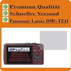 2x Displayschutzfolie Bildschirmschutzfolie Schutzhülle Displayschutz Displayfolie Folie KRISTALLKLAR für Panasonic Lumix DMC-TZ41