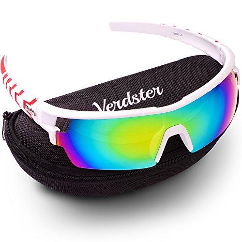 Verdster Lauf Sonnenbrille für Herren und Frauen - Laufbrille mit UV-Schutz - ideal zum Radfahren & Laufen