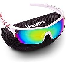 Gafas de sol VERDSTER TourDePro Para Hombres y Mujeres– Aptos para Corriendo, Ir en bicicleta – Montura Envolvente Cómoda con Protección UV – Incluye un estuche duro, funda suave y un pañuelo